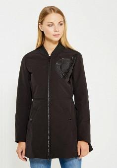 Куртка утепленная, Love Moschino, цвет: черный. Артикул: LO416EWUKW47. Премиум / Одежда / Верхняя одежда
