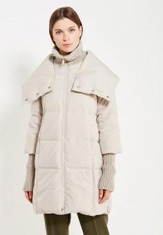 Пуховик, Max&Co, цвет: бежевый. Артикул: MA111EWUCH63. Премиум / Одежда / Верхняя одежда / Пуховики и зимние куртки