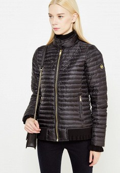 Пуховик, Michael Michael Kors, цвет: черный. Артикул: MI048EWUGZ45. Премиум / Одежда / Верхняя одежда / Пуховики и зимние куртки
