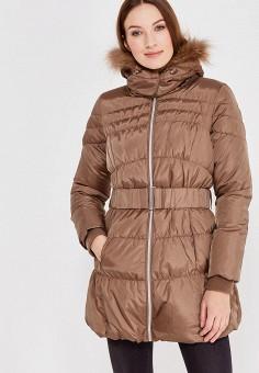 Пуховик, Colin's, цвет: коричневый. Артикул: MP002XW0N3T5. Женская одежда / Верхняя одежда / Пуховики и зимние куртки