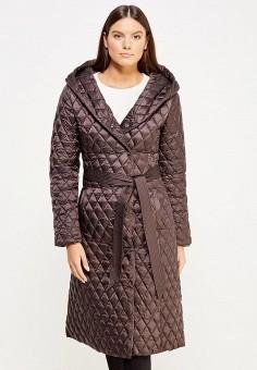 Пуховик, Odri, цвет: коричневый. Артикул: OD001EWXGF69. Женская одежда / Верхняя одежда / Пуховики и зимние куртки