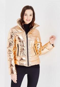 Пуховик, Odri, цвет: золотой. Артикул: OD001EWXGF81. Женская одежда / Верхняя одежда / Пуховики и зимние куртки