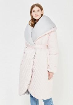 Пуховик, Odri, цвет: розовый, серый. Артикул: OD001EWYGM57. Женская одежда / Верхняя одежда / Пуховики и зимние куртки