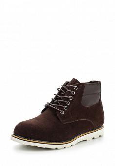 Ботинки, oodji, цвет: коричневый. Артикул: OO001AMPPA29. Мужская обувь / Ботинки и сапоги