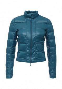 Пуховик, oodji, цвет: синий. Артикул: OO001EWJOM30. Женская одежда / Верхняя одежда / Пуховики и зимние куртки