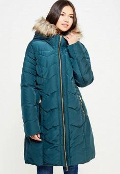 Куртка утепленная, oodji, цвет: зеленый. Артикул: OO001EWYVG76. Женская одежда / Верхняя одежда / Пуховики и зимние куртки