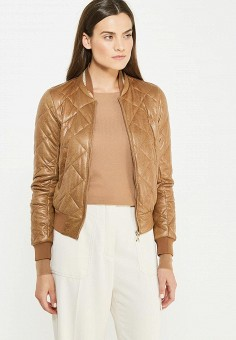 Куртка утепленная, Patrizia Pepe, цвет: коричневый. Артикул: PA748EWTUR42. Премиум / Одежда / Верхняя одежда