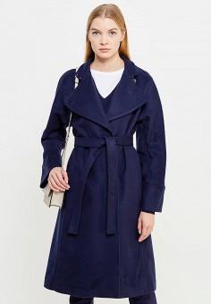 Пальто, Patrizia Pepe, цвет: синий. Артикул: PA748EWTUR47. Премиум / Одежда / Верхняя одежда