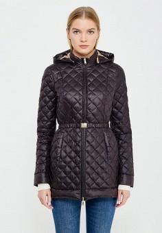 Пуховик, Patrizia Pepe, цвет: черный. Артикул: PA748EWTUR58. Женская одежда / Верхняя одежда / Пуховики и зимние куртки