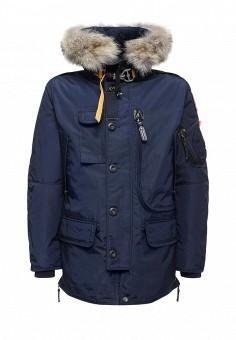 Пуховик, Parajumpers, цвет: синий. Артикул: PA997EMTCG73. Мужская одежда / Верхняя одежда / Пуховики и зимние куртки