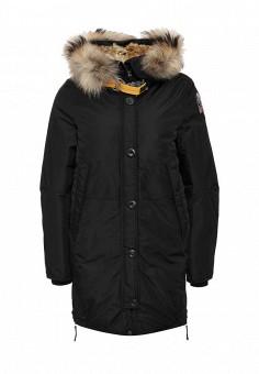 Пуховик, Parajumpers, цвет: черный. Артикул: PA997EWKKF48. Женская одежда / Верхняя одежда / Пуховики и зимние куртки