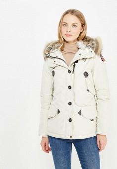 Пуховик, Parajumpers, цвет: бежевый. Артикул: PA997EWTCG51. Женская одежда / Верхняя одежда / Пуховики и зимние куртки