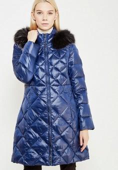 Пуховик, Pennyblack, цвет: синий. Артикул: PE003EWTCJ33. Премиум / Одежда / Верхняя одежда / Пуховики и зимние куртки