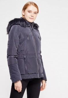 Куртка утепленная, Piazza Italia, цвет: серый. Артикул: PI022EWYDW33. Женская одежда / Верхняя одежда / Пуховики и зимние куртки