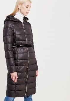 Куртка утепленная, Pinko, цвет: черный. Артикул: PI754EWUKK85. Премиум / Одежда / Верхняя одежда