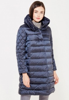 Пуховик, Savage, цвет: синий. Артикул: SA004EWVJW46. Женская одежда / Верхняя одежда / Пуховики и зимние куртки