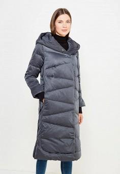 Пуховик, Savage, цвет: серый. Артикул: SA004EWVJW49. Женская одежда / Верхняя одежда / Пуховики и зимние куртки