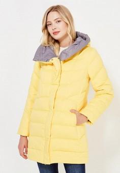 Пуховик, Savage, цвет: желтый. Артикул: SA004EWVJW50. Женская одежда / Верхняя одежда / Пуховики и зимние куртки