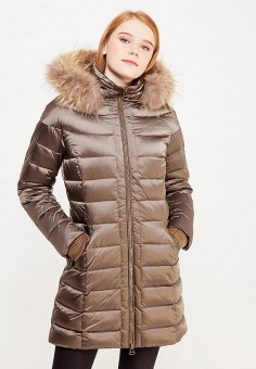 Пуховик, Savage, цвет: коричневый. Артикул: SA004EWVJW55. Женская одежда / Верхняя одежда / Пуховики и зимние куртки