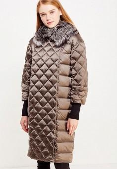 Пуховик, Savage, цвет: коричневый. Артикул: SA004EWVJW57. Женская одежда / Верхняя одежда / Пуховики и зимние куртки
