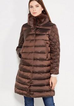 Пуховик, Savage, цвет: коричневый. Артикул: SA004EWVJX07. Женская одежда / Верхняя одежда / Пуховики и зимние куртки
