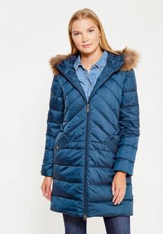 Пуховик, Sela, цвет: синий. Артикул: SE001EWURO81. Женская одежда / Верхняя одежда / Пуховики и зимние куртки