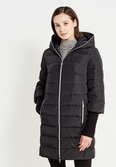 Пуховик, Tom Farr, цвет: черный. Артикул: TO005EWMSD48. Женская одежда / Верхняя одежда / Пуховики и зимние куртки