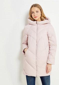 Пуховик, Tom Farr, цвет: розовый. Артикул: TO005EWWUW02. Женская одежда / Верхняя одежда / Пуховики и зимние куртки
