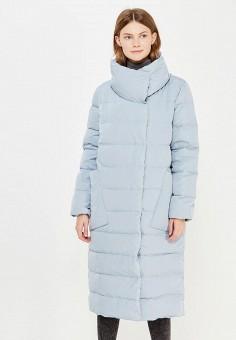 Пуховик, Tom Farr, цвет: голубой. Артикул: TO005EWWUW19. Женская одежда / Верхняя одежда / Пуховики и зимние куртки / Длинные пуховики и куртки