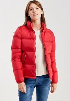 Пуховик, Tommy Hilfiger Denim, цвет: красный. Артикул: TO013EWUFJ94. Женская одежда / Верхняя одежда / Пуховики и зимние куртки