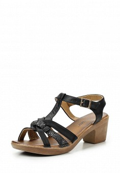 Босоножки, Topway, цвет: черный. Артикул: TO038AWTOB11. Женская обувь / Босоножки