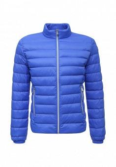 Пуховик, Trussardi Jeans, цвет: синий. Артикул: TR016EMUWE45. Премиум / Одежда / Верхняя одежда / Пуховики