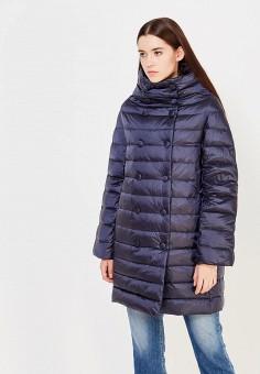 Пуховик, Trussardi Jeans, цвет: синий. Артикул: TR016EWUWF05. Премиум / Одежда / Верхняя одежда / Пуховики и зимние куртки