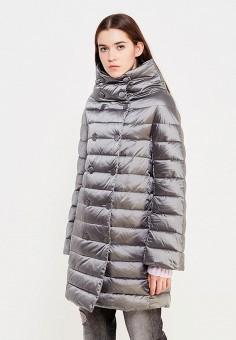 Пуховик, Trussardi Jeans, цвет: серый. Артикул: TR016EWUWF06. Премиум / Одежда / Верхняя одежда / Пуховики и зимние куртки
