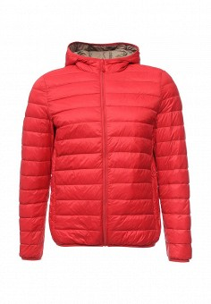 Пуховик, United Colors of Benetton, цвет: красный. Артикул: UN012EMVWV98. Мужская одежда / Верхняя одежда / Пуховики и зимние куртки