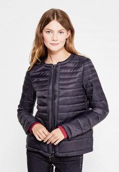 Пуховик, United Colors of Benetton, цвет: черный. Артикул: UN012EWVXJ56. Женская одежда / Верхняя одежда / Пуховики и зимние куртки