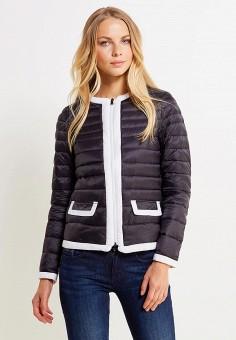 Пуховик, United Colors of Benetton, цвет: черный. Артикул: UN012EWVXJ62. Женская одежда / Верхняя одежда / Пуховики и зимние куртки