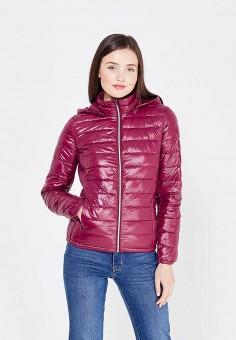 Пуховик, United Colors of Benetton, цвет: фиолетовый. Артикул: UN012EWVXJ99. Женская одежда / Верхняя одежда / Пуховики и зимние куртки