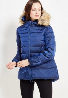 Пуховик, United Colors of Benetton, цвет: синий. Артикул: UN012EWWLY71. Женская одежда / Верхняя одежда / Пуховики и зимние куртки