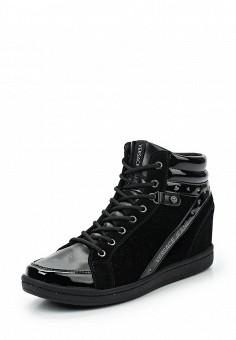 Кеды на танкетке, Versace Jeans, цвет: черный. Артикул: VE006AWUBI35. Женская обувь / Кроссовки и кеды / Кеды
