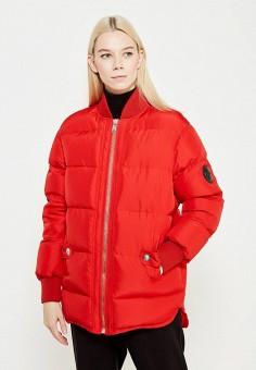 Пуховик, Versus Versace, цвет: красный. Артикул: VE027EWTCG87. Премиум / Одежда / Верхняя одежда / Пуховики и зимние куртки