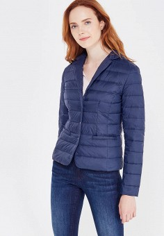 Пуховик, Zarina, цвет: синий. Артикул: ZA004EWUOO65. Женская одежда / Верхняя одежда / Пуховики и зимние куртки