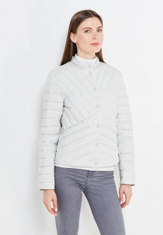Пуховик, Zarina, цвет: серый. Артикул: ZA004EWUOO69. Женская одежда / Верхняя одежда / Пуховики и зимние куртки