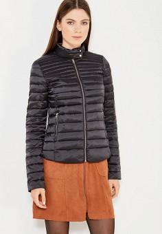 Пуховик, Zarina, цвет: черный. Артикул: ZA004EWUOP64. Женская одежда / Верхняя одежда / Пуховики и зимние куртки