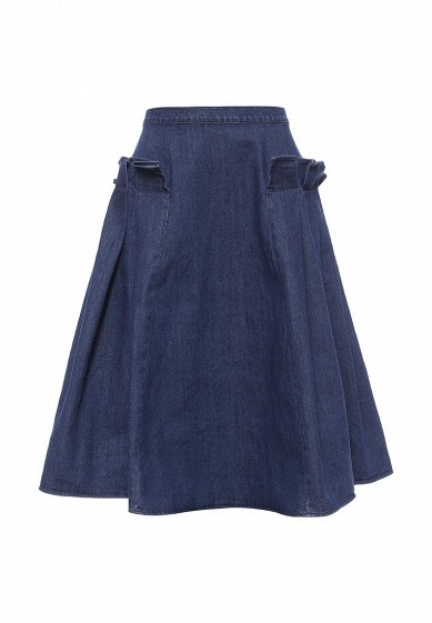 Юбка LOST INK DENIM FRILL MIDI